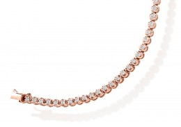 18ct Rose Gold Round Brilliant Cut Diamond Bracelet 2ct