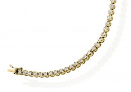 18ct Yellow Gold Round Brilliant Cut Diamond Bracelet 2ct