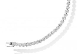 18ct White Gold Round Brilliant Cut Diamond Bracelet 3ct