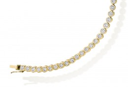 18ct Yellow Gold Round Brilliant Cut Diamond Bracelet 3ct