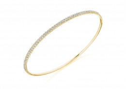 18ct Yellow Gold Round Brilliant Cut Diamond Bangle 2.25ct