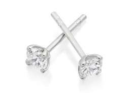 18ct White Gold Round Brilliant Cut Diamond Stud Earrings 0.50ct