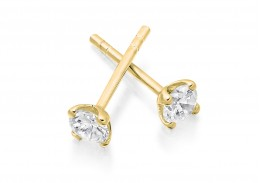 18ct Yellow Gold Round Brilliant Cut Diamond Stud Earrings 0.50ct