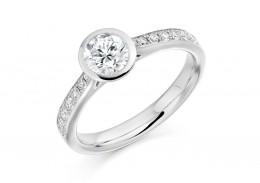 18ct White Gold Round Brilliant Cut Diamond Ring 0.85ct