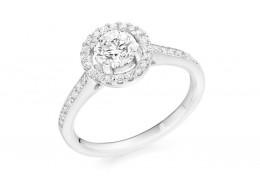 18ct White Gold Round Brilliant Cut Diamond Solitaire Ring 0.80ct