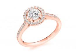 18ct Rose Gold Round Brilliant Cut Diamond Solitaire Ring 0.80ct