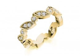 18ct Yellow Gold Round Brilliant Cut Full Eternity Ring 0.50ct