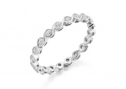 18ct White Gold Round Brilliant Cut Full Eternity Ring 0.50ct
