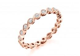 18ct Rose Gold Round Brilliant Cut Full Eternity Ring 0.50ct
