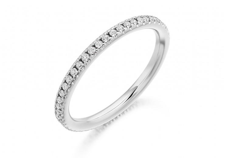 18ct White Gold Round Brilliant Cut Full Eternity Ring 0.35ct