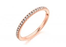 18ct Rose Gold Round Brilliant Cut Full Eternity Ring 0.35ct