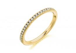 18ct Yellow Gold Round Brilliant Cut Full Eternity Ring 0.35ct