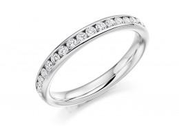 18ct White Gold Round Brilliant Cut Full Eternity Ring 0.75ct