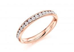18ct Rose Gold Round Brilliant Cut Full Eternity Ring 0.75ct