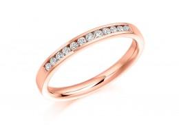 18ct Rose Gold Round Brilliant Cut Diamond Half Eternity Ring 0.20ct