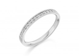 9ct White Gold Round Brilliant Cut Diamond Half Eternity Ring 0.25ct