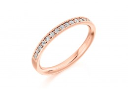 9ct Rose Gold Round Brilliant Cut Diamond Half Eternity Ring 0.25ct