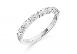 18ct White Gold Marquis Cut Half Eternity Ring 0.60ct