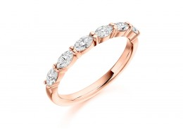 18ct Rose Gold Marquise Cut Half Eternity Ring 0.60ct