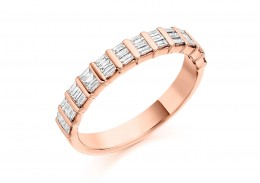 18ct Rose Gold Baguette Cut Half Eternity Ring 0.50ct
