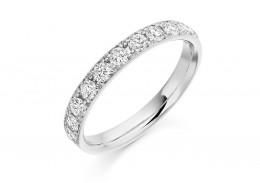 18ct White Gold Round Brilliant Cut Half Eternity Ring 0.65ct