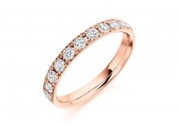 18ct Rose Gold Round Brilliant Cut Half Eternity Ring 0.65ct