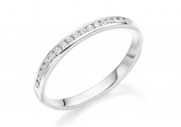 18ct White Gold Round Brilliant Cut Diamond Half Eternity Ring 0.15ct