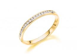 18ct Yellow Gold Round Brilliant Cut Diamond Half Eternity Ring 0.15ct