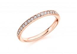 18ct Rose Gold Round Brilliant Cut Half Eternity Ring 0.30ct