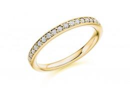 18ct Yellow Gold Round Brilliant Cut Half Eternity Ring 0.30ct