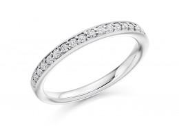 18ct White Gold Round Brilliant Cut Half Eternity Ring 0.30ct