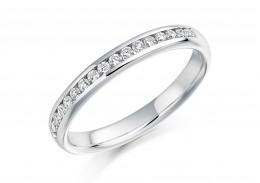 18ct White Gold Round Brilliant Cut Diamond Half Eternity Ring 0.22ct