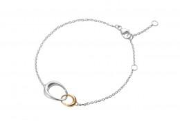 Georg Jensen 18ct Rose Gold &  Sterling Silver Offspring Bracelet
