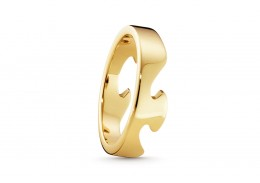 Georg Jensen 18ct Yellow Gold Fusion End Ring