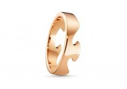 Georg Jensen 18ct Rose Gold Fusion End Ring