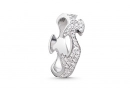 Georg Jensen 18ct White Gold & Diamond Centre Ring