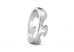 Georg Jensen 18ct White Gold & Diamond End Ring
