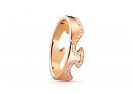 Georg Jensen 18ct Rose Gold & Diamond End Ring