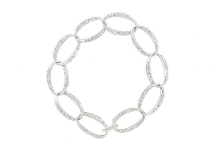 Pre-owned 18ct White Gold Diamond Set Bracelet