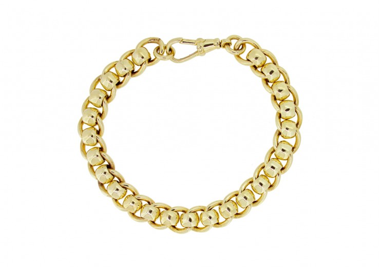 Pre-owned 9ct Gold Rollerball Bracelet