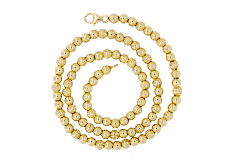 Pre-owned 9ct Gold Bead Necklace